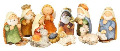 Haba Weihnachtskrippe.Timtina Originelles 11 Teiliges Krippenfigurenset Kinderkrippe