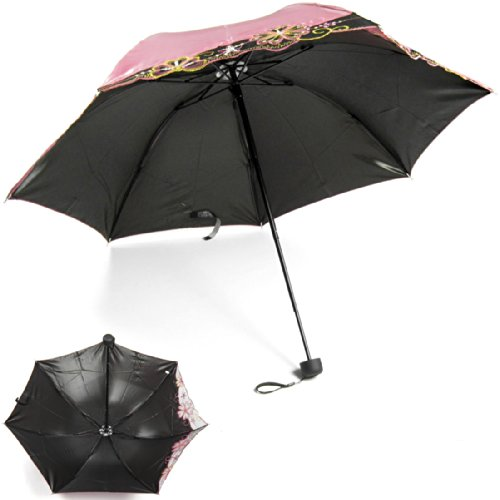 kilofly anti uv folding color gradient parasol umbrella upf 40 pink home garden parasols rain. Black Bedroom Furniture Sets. Home Design Ideas