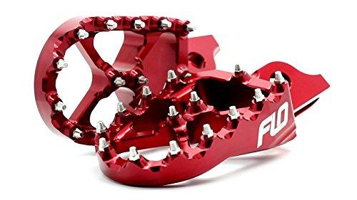 Flo Motorsports Red Suzuki RMZ 250/450 Foot Pegs FPEG-796R (Rmz 450 Motor compare prices)