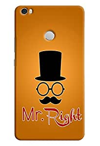 Omnam Mr. Right printed with cap and Moustache cover for Xiaomi Mi Max