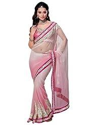 Fashion Femina A Light Pink Designer Festival Saree