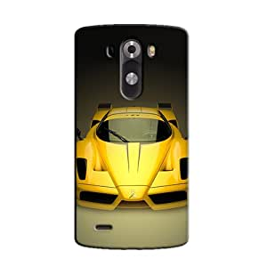 YELLOW CAR BACK COVER FOR LG G3