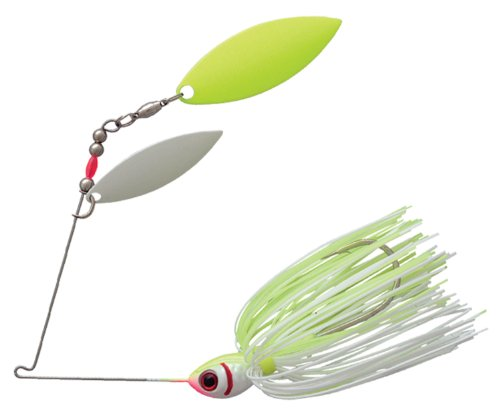 Booyah Glow Blade Tandem Fishing Lure, White Chartreuse, 1/2 ounce
