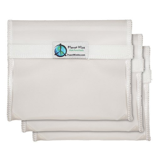 Planet Wise Reusable Clear Hook and Loop Sandwich Bag