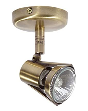 Romore Single Spot Light Antique Brass Finish