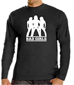 Bad Girls - Charlie Angels Long Sleeve T-Shirt Black, L