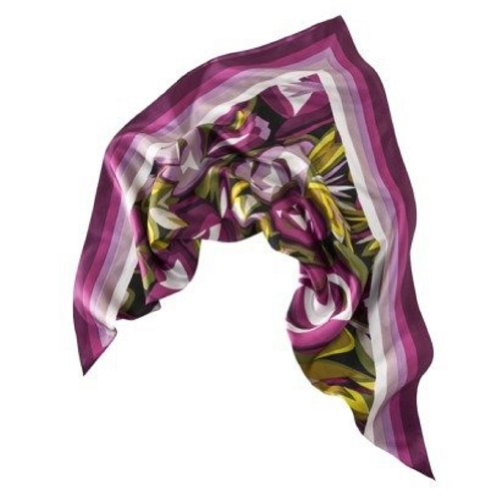 Missoni for Target Women's Floral Silk Scarf - Purple (Missoni For Target Scarf compare prices)