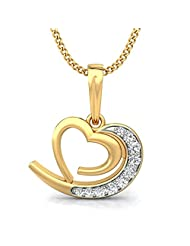 Belle Diamante 18k (750) Yellow Gold And Diamond Pendant - B00OA08148