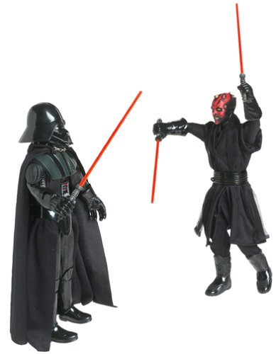 41ZV6BWWZCL Cheap Buy  Star Wars Power of the Jedi 12 Action Figure   Sith Lords   Darth Vader & Darth Maul 2 Figure Set
