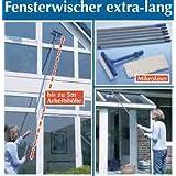 """WENKO 7161500 Fensterwischer - extra lang, Microfaser, Wischkopf mit Schwamm, Knickgelenk, Arbeitsh�he bis 5 mvon """"Wenko"""""""