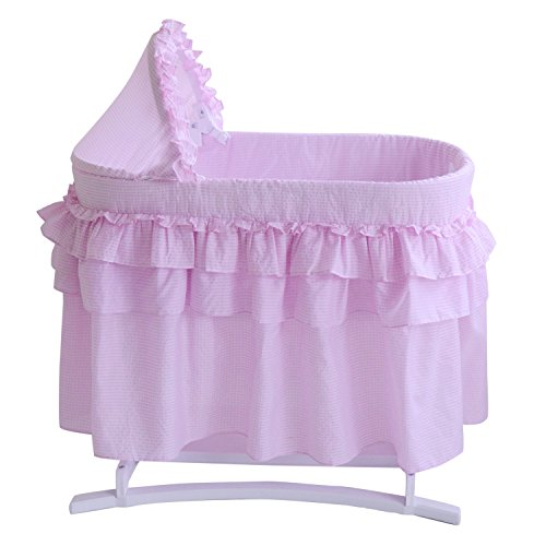 Lamont Limited Home Bassinet, Full Skirt, Pink - 1