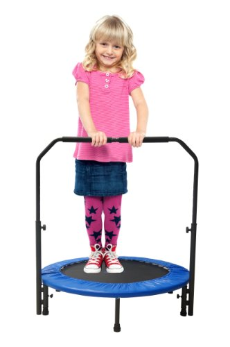 Upper Bounce Mini Foldable Rebounder Fitness Trampoline with Adjustable Handrail ,40 inch