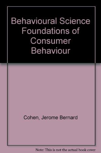 Behavioural Science Foundations of Consumer Behaviour PDF