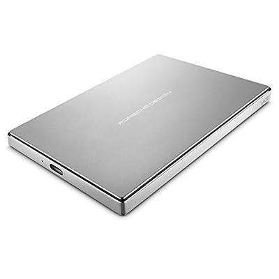 LaCie Porsche Design 4TB USB-C Mobile Hard Drive STFD4000402 - Silver 2TB