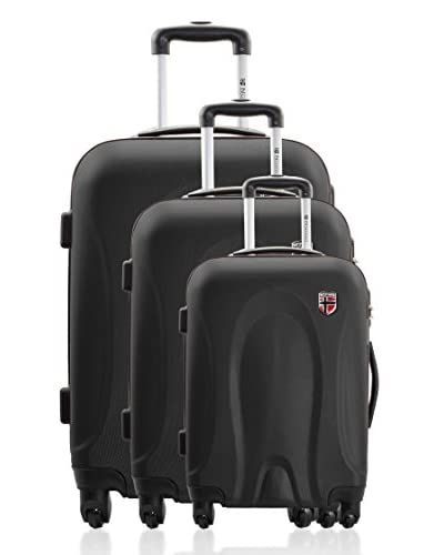 Geographical Norway Set 3 Trolley 4 Ruote Sanremo [Nero]
