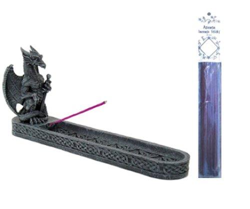 Dragon Incense Burner Holder with 1 Pack of 20 Azenta Dragon's Blood Incense Sticks