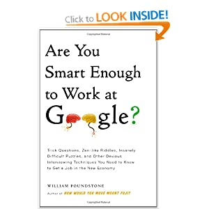Are You Smart Enough to Work at Google?: Trick Questions