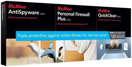 Mcafee AntiSpyware / Firewall/ Quick Clean 2006 Bundle