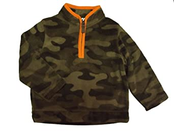 "Carter's Boys ""Let's Play"" Long Sleeve Camouflage Half Zip Micro Fleece Pullover Jacket (24 Months)"