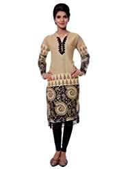 TeeMoods Womens Long Printed Kurti With Long Sleeves - B00VG8VX9C