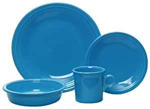 Fiesta 4-Piece Place Setting, Peacock