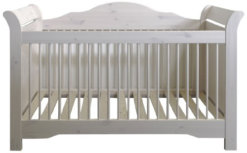 Steens Furniture 607 Steens Lotta Babybett, Kiefer, Liegefläche 70 x 140 cm, white wash