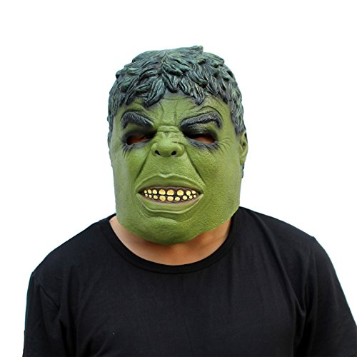 CreepyParty Deluxe Novelty Halloween Costume Party Latex Head Mask Hulk