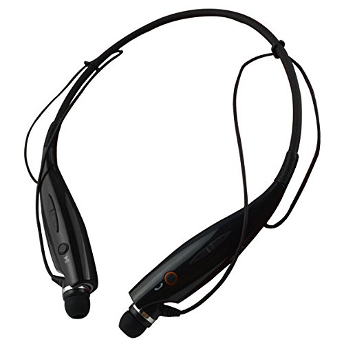 Sqdeal® Fashion Hbs-730 Neckband Style Wireless Sport Stereo Bluetooth Headset Headphone Earphone For Samsung /Iphone/Nokia/Htc/Moto Mobile Cell Phone, Ipad/Pc Tablet Etc (Black)