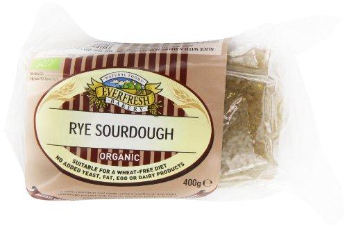 Sunnyvale Rye Sourdough Organic Bread 400 g (Pack of 8)
