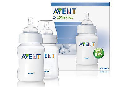 Philips Avent Airflex 260Ml 9Oz Pp Classic Baby Bottles Scf683/27 Twin 2 Pack Good Gift For Mom And Baby Fast Shipping Ship Worldwide