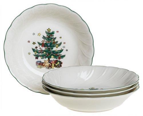 Nikko Ceramics Happy Holidays All-Purpose Bowls, Set of 4 Nikko Christmas Tree