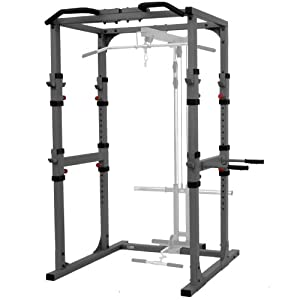 Buy XMark Commercial Power Cage with Dip Station and Pull-up Bar XM-7620 by XMark Fitness