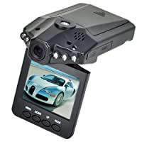 "2.5"" HD Car LED IR Vehicle DVR Road Dash Video Camera Recorder Traffic Dashboard Camcorder - LCD 270° whirl 6 LED Recorder Camera by Crystalcity-6662"