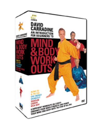 David Carradine - Mind & Body Workouts - 3 Disc Box Set (Kung Fu & Tai Chi / Chi Energy Workout /  Shaolin Cardio Kick Box) [DVD]