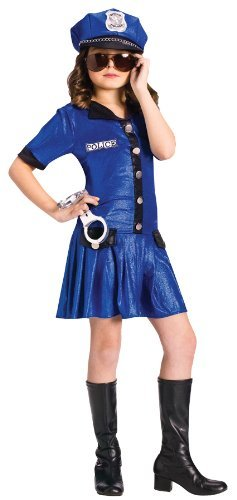 Police Girl Small Child Costume (4-6)