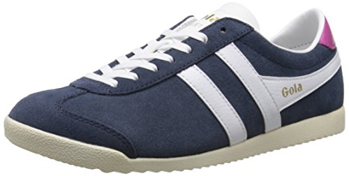 Gola Women's Bullet Suede Fashion Sneaker, Navy/White, 9 M US