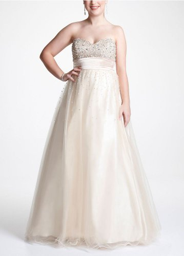 Gonna Tell You About David\'s Bridal Strapless Beaded Prom Ball Gown ...