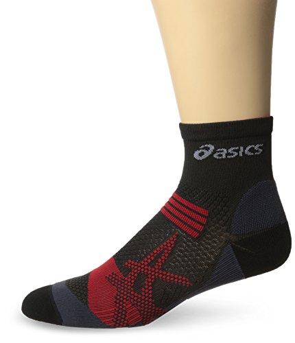 asics-kayano-quarter-socks-black-red-heat-small