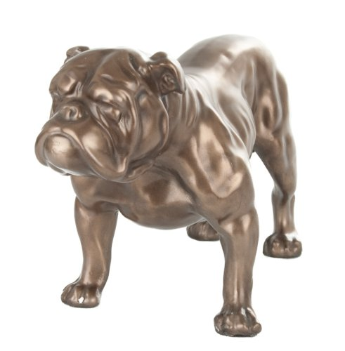 BRONZE BRITISH BULLDOG STATUE BULL DOG SCULPTURE ORNAMENT NEW