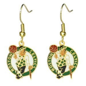 Boston Celtics Gold Dangle Earrings at Amazon.com