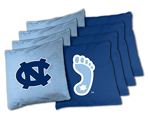 NCAA North Carolina Tar Heels 16oz, Duckcloth Cornhole Bean Bags (Ncaa Corn Hole compare prices)