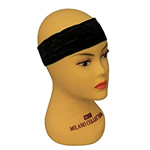 "MILANO COLLECTIN ""WIGRIP"" Wig & Scarf Comfort Band - Black"