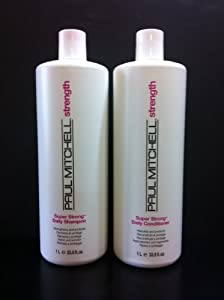 Paul Mitchell Super Strong Daily Shampoo and Conditioner Litter DUO SET 33.8 oz