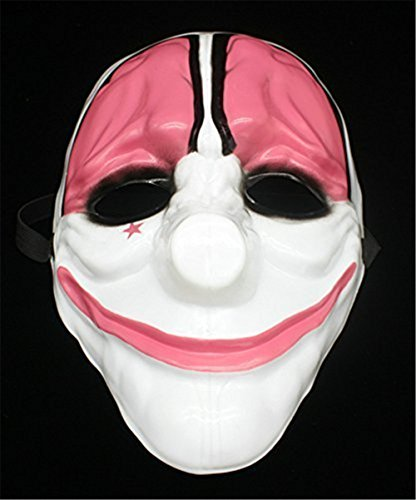 Payday2 Costume PVC Hoxton Mask Halloween Cosplay Party Mask