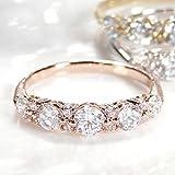 ダイヤモンド リング k18ゴールド ☆ピンキー対応 【1カラット】 選べる3色 【ホワイトゴールド】 グラデーション ダイヤモンドリング (サイズ12号)【刻印無料】 【ギフトラッピングされています】【品質保証書が付いています】