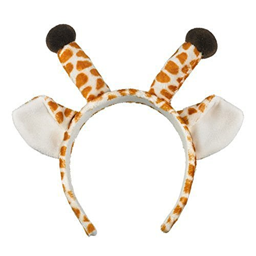 Wildlife Artists Giraffe Ears & Horns Headband Costume Hat