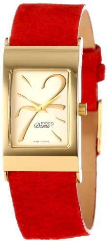 Moog Paris Women's XWA3665W-PE-011G  Domed Gold-Plated Analog Watch