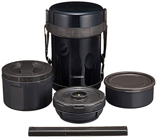 Zojirushi Lunch Box Bento Stainless Thermos Food Jar SL-GG18-BD Navy Black New (Zojirushi Thermos Bento compare prices)