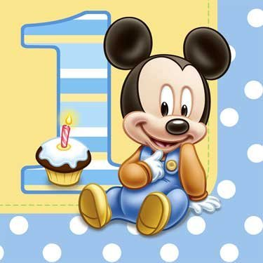Mickey's 1st Birthday Lunch Napkins (16 count)