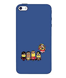 printtech Minions Big Bang Theory Back Case Cover for Apple iPhone 4::Apple iPhone 4S
